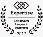 Expertise Best Divorce Lawyers in Richmond 2017 seal